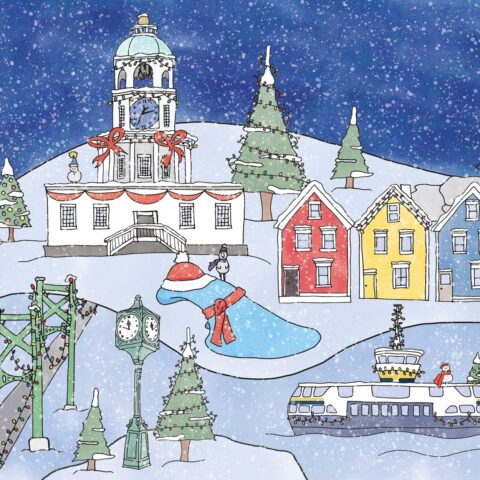 Halifax Holiday Illustration