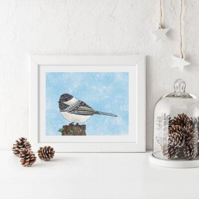 Christmas-Chickadee